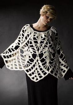 Lacy Wool Poncho