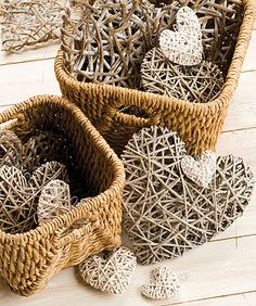 Large White Willow Heart Wreath - view all sale items Willow Weaving, Basket Weaving, Newspaper Basket, Wicker Hearts, I Love Heart, Heart Wreath, Heart Crafts, Home And Deco, Valentine Decorations