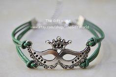Silver Fashion masquerade mask charm braceletWomen by TheGiftWorld, $2.99 Personalized fashion handmade charm bracelet,best friendship gift.