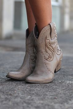 Markie Western Cowgirl Bootie {Stone} by VERY VOLATILE