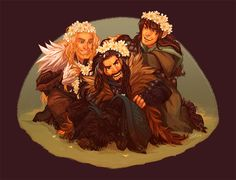 This was after the time I tried to put that flower crown on Fili.... so HE (Fili) Actually suggested that we make on for Uncle. ~Kili