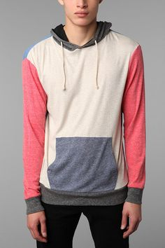 Charles 1/2 Pouch Pocket Popover Hoodie on a heathered ground. - Urban Outfitters