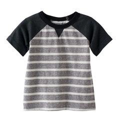 Baby Boy Jumping Beans® Striped Raglan Tee, Dark Grey
