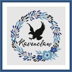 Ravenclaw Floral Harry Potter Cross stitch pattern | Craftsy