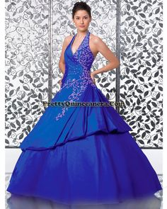 2010 Winter quinceanera dress,Latest ball gown quinceanera dress 15385-8,discount designer quinceanera ball gowns,Royal blue classical sweet 16 birthday quinceanera dress.