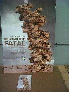 Afiche gráfico.Historia del Siglo XX. Terremoto de San Juan. Retorica. UM 2013.