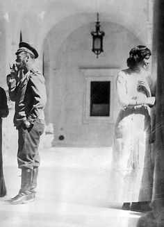 Tsar Nicholas II and Grand Duchess Tatiana at Livadia Palace.