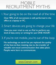 3 Popular mobile recruitment myths. Recruitment Software, Improve Yourself, Insight, Popular, Popular Pins, Most Popular
