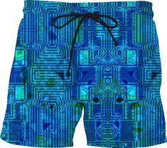Japan Animal Old Tourist Poster Design Mens Swim Trunks Board Shorts