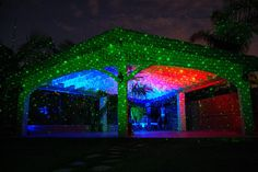 Showing the Blisslights Spright on a cabana.
