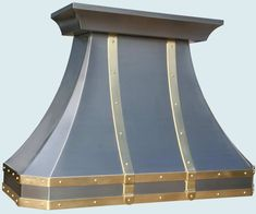 Hand Made Stainless Range Hood Brass Straps & Rivets by ...