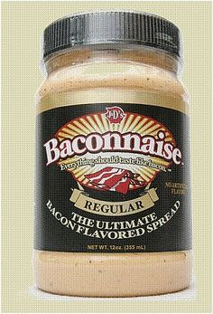 Baconnaise - Regular flavor - low carb and very good! Lots of bacon products on this site!