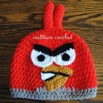 Red Angry Bird Crochet Hat Pattern
