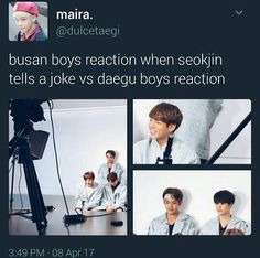 i just start laughing because of jins laugh