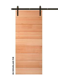 Horizontal in Douglas Fir,Horizontal in Douglas Fir, Horizontal in Rustic Alder with a Barn Red Fini Internal Wooden Doors, Wood Doors, Interior Barn Doors, Exterior Doors, Craftsman Door, Rustic Colors, Unique Doors, Diy Barn Door, Sliding Barn Door Hardware
