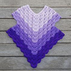 crochet poncho kids Sweet Love Poncho is a poncho version of Bride. Crochet Baby Poncho, Crochet Toddler, Crochet Poncho Patterns, Crochet For Kids, Crochet Shawl, Crochet Stitches, Baby Knitting, Knit Crochet, Kids Poncho