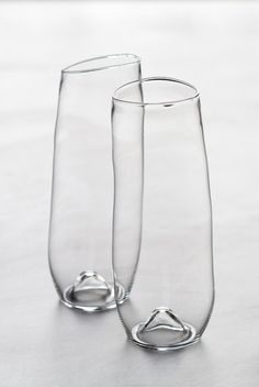 Stemless Champagne Flutes by Malfatti Glass
