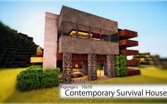 Contemporary Survival House Minecraft
