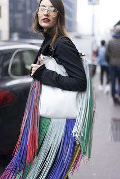 Best Street Style at Milan Fashion Week Fall 2017 | POPSUGAR Fashion