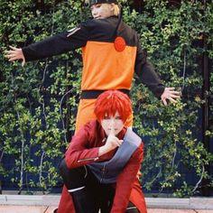 Gaara and Naruto Cosplay