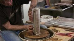 Forrest Lesch-Middleton screenprint transfers onto wheel-thrown pots.  Amazing! Full article on ceramicartsdaily.org
