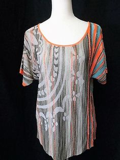 NWOT DIKTONS BARCELONA SPAIN Sz M STRIPED KIMONO SLEEVE TOP  #Diktons #KnitTop #Any