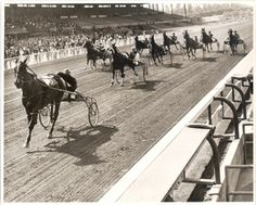 Harness racing at Santa Anita Park was discontinued over two decades ago, but luckily, we have photographic documentation of this type of racing.