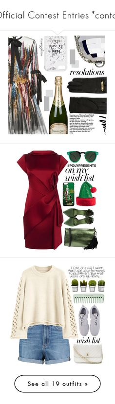 """Official Contest Entries *contd*"" by mayblooms ❤ liked on Polyvore featuring Elie Saab, Perrier-JouÃ«t, Kate Spade, Moschino, Bobbi Brown Cosmetics, contestentry, newyear, polyPresents, Karen Millen and Borsetteria Napoli 1985"