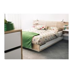 Mandal Bed Frame With Storage, Birch, White