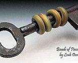 Beads on vintage skeleton key