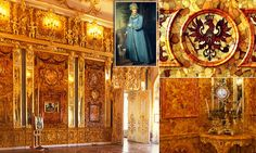 The Amber Room was built for Catherine the Great of Russia Disappeared during World War Two and its fate remains unknown