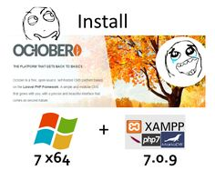 Install #OctoberCMS on Windows 7 x64 ( XAMPP 7.0.9 + #php7 ) - opensource #PHP content management system #CMS #CodingTrabla Tutorials