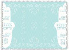 Set 6 Placemates Hamsa Hebrew Shabbat Shalom Table Decoration Jewish Judaica #Unbranded