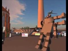 Secondlife 2012 Robot Fun at Berlin Sandbox