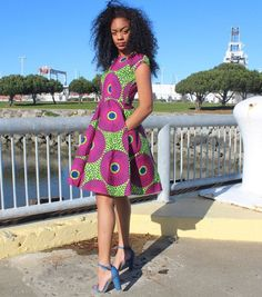 African print dress, Ankara dress, African clothing (Please read item details, day delivery) African Dresses For Women, African Print Dresses, African Print Fashion, African Attire, African Women, Fashion Prints, Ankara Fashion, African Outfits, African Clothes