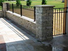 16 Pool Fence Ideas for Your Backyard (AWESOME GALLERY) View these 16 pool fencing ideas for your backyard pool. Pool fencing requirements, laws and cost can vary by state so be sure to check with your city. Retaining Wall Fence, Brick Fence, Front Yard Fence, Metal Fence, Fenced In Yard, Stone Fence, Aluminum Fence, Concrete Fence Wall, Pallet Fence