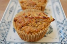 Spiced coconut flour apple muffins--going to try with leftover apple pulp from juicing **Update** It totally worked--these are WONDERFUL!
