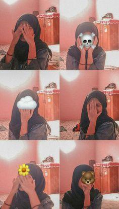 Hijab Cartoon, Casual Hijab Outfit, Instagram Pose, Girl Hijab, Ulzzang Girl, Aesthetic Girl, Selfie, Gw, Gallery