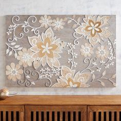 Shop for a variety of unique wall art at Pier 1 Imports. Brighten up your rooms with any of our colorful animal, flower, or nature canvas paintings! Mosaic Diy, Mosaic Wall, Mosaic Ideas, Tree Wall Art, Wall Art Decor, Plaster Art, Foyer Decorating, Vine Design, Home Decor Pictures