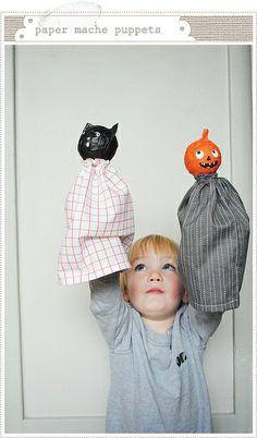 Halloween Papier Mache Puppets