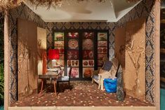 The English Study by Ashley Hicks: Corian Cabana Club, Milan Design Week 2017 Mexican Bedroom, Cabana Magazine, Dupont Corian, Moroccan Kitchen, Milan Design Week 2017, English Study, Interior Decorating, Club, Maximalism