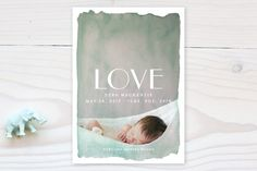 Aquarelle no. 2 Birth Announcements by j.bartyn at minted.com