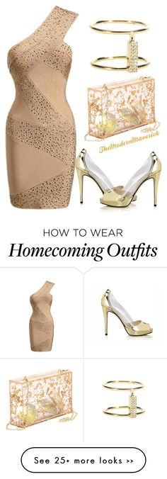 """""""homecoming 2015"""" by theblushingbeauty on Polyvore featuring Posh Girl and Ileana Makri"""