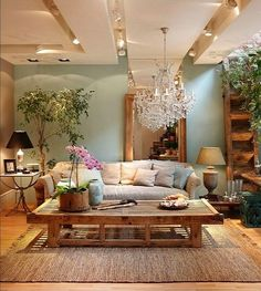 Living Room Idea U2013 Home And Garden Design Ideas This Is So Peaceful And  Pretty With The Soft Blue And Tan And The Wood Grain. Living Room Idea U2013  Homeu2026 Gallery
