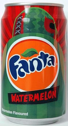Fanta - Watermelon Kid Drinks, Party Drinks, Summer Drinks, Beverages, Fruity Pops, Coca Cola Bottles, Carbonated Drinks, Fanta Can, Weird Food