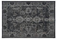 Mabel Rug, Black/Multi | Foundations & Finishing Touches | One Kings Lane
