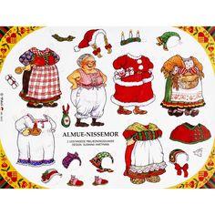 gnome paper dolls | Panduro Hobby - Paper dolls Elf Dad Elf Mum