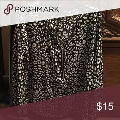 Animal print blouse Long sleeve animal print blouse with zipper embellishment Apt. 9 Tops Blouses
