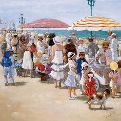 Beach Old Times III Canvas Artwork By Carel Van Rooijen