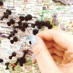 Targi scrapbookingowe na końcu świata z @egotiste_ i @ladylikem #katowice #scrapbooking #saturday #weekend #map